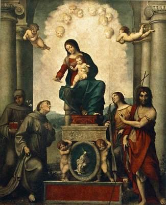 CORREGGIO Madonna With St Francis