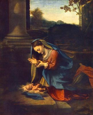 CORREGGIO The Adoration Of The Child