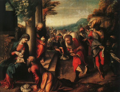 CORREGGIO The Adoration Of The Magi