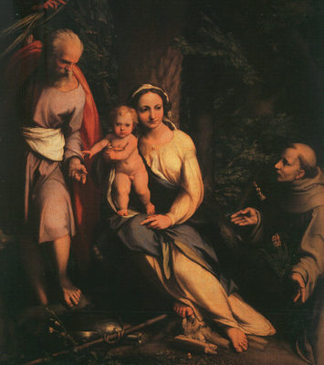 CORREGGIO The Rest On The Flight To Egypt With Saint Francis