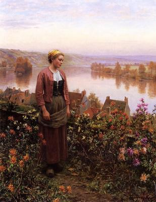 Knight Daniel Ridgway A Garden above the Seine Rolleboise