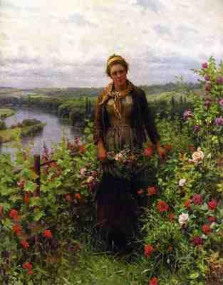 Knight Daniel Ridgway A Maid in Her Garden