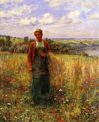 Knight Daniel Ridgway Gathering Wheat