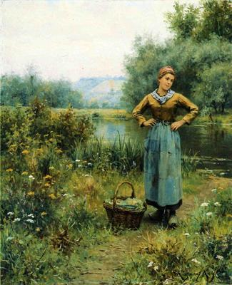 Knight Daniel Ridgway Girl in a Landscape