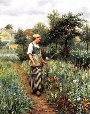 Knight Daniel Ridgway In the Garden