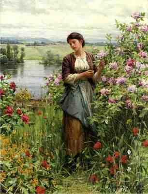 Knight Daniel Ridgway Julia among the Roses