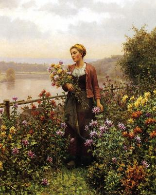 Knight Daniel Ridgway Woman in a Garden