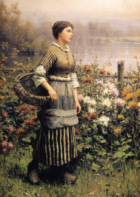 Maid Among the Flowers