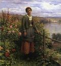 Knight Daniel Ridgway In Her Garden
