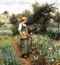 Knight Daniel Ridgway In the Garden