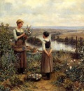 Knight Daniel Ridgway Picking Flowers