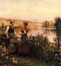 Knight Daniel Ridgway Stopping for Conversation