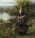 Knight Daniel Ridgway Watering the Garden