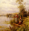 Knight Louis Aston Country Women After Fishing On A Summer Afternoon