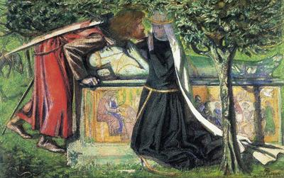 Rossetti Dante Gabriel Arthur s Tomb The Last Meeting of Lancelot and Guinevere