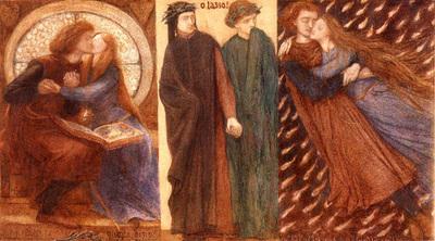 rossetti dante gabriel paolo and francesca 1849