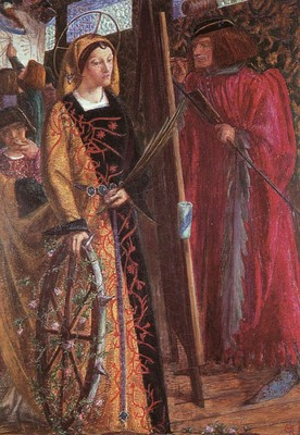 Rossetti Dante Gabriel Saint Catherine