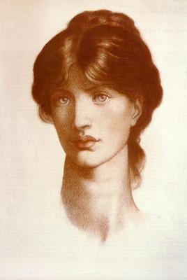 Rossetti Dante Gabriel Study For A Vision Of Fiammetta