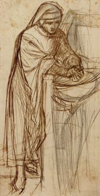 Rossetti Dante Gabriel Study For Dante At Verona With A Preliminary
