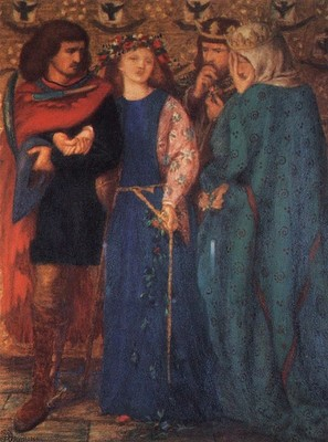 Rossetti Dante Gabriel The First Madness of Ophelia