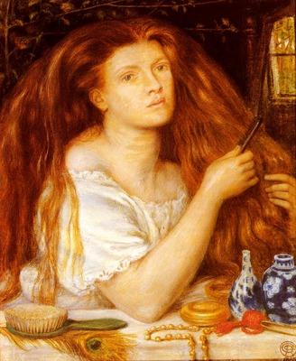 Rossetti Dante Gabriel Woman Combing Her Hair