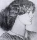 Rossetti Dante Gabriel Portrait of Jane Morris
