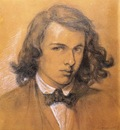 Rossetti Dante Gabriel Self Portrait