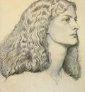 Rossetti Dante Portrait Of Annie Miller