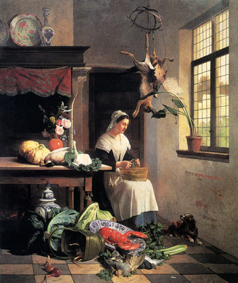 Noter David Emil Joseph De A Maid In The Kitchen