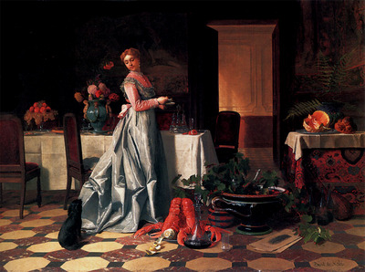 Noter David Emile Joseph de Preparing The Banquet copy
