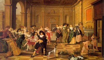 HALS Dirck Banquet Scene In A Renaissance Hall