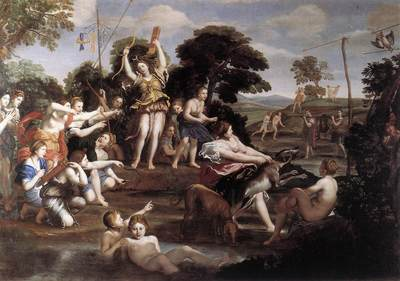 DOMENICHINO Diana and her Nymphs