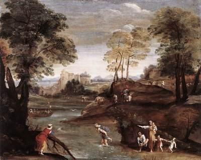DOMENICHINO Landscape with Ford