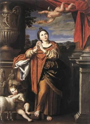 DOMENICHINO Saint Agnes