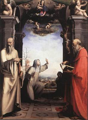 BECCAFUMI Domenico Stigmatization Of St Catherine Of Siena
