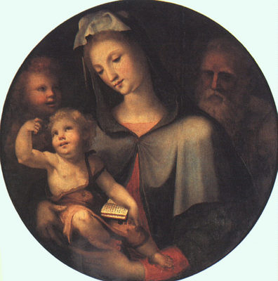 BECCAFUMI Domenico The Holy Family With Young Saint John