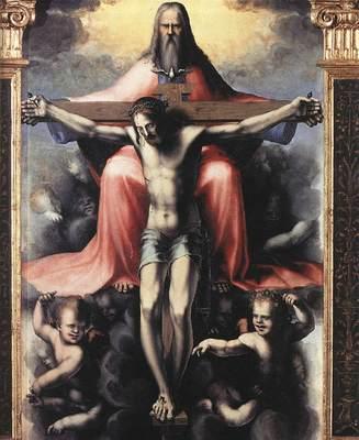 BECCAFUMI Domenico Trinity detail