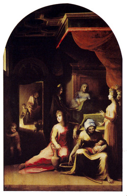 Beccafumi Domenico Birth Of The Virgin