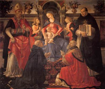 GHIRLANDAIO Domenico Madonna And Child Enthroned Between Angels And Saints