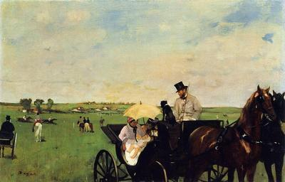 Degas Edgar A Carriage at the Races