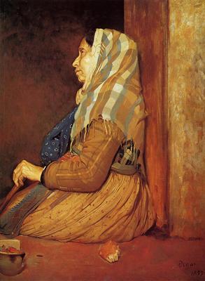 Degas Edgar A Roman Beggar Woman