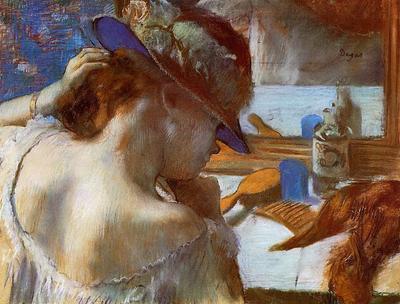 Degas Edgar At the Mirror