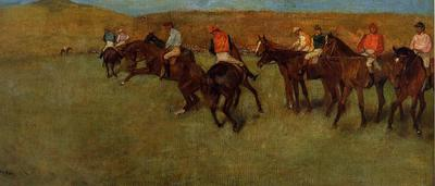 Degas Edgar At the Races Before the Start