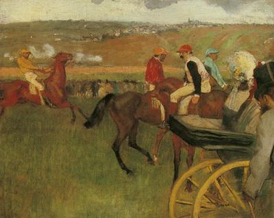 degas edgar at the races gentlemen jockeys c1877
