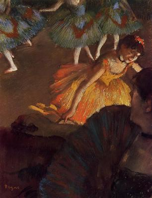 Degas Edgar Ballerina and Lady with a Fan