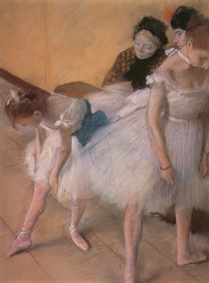 Degas Edgar Before the Rehearsal c1880