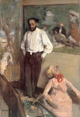 Degas Portrait of the Painter Henri Michel Levy