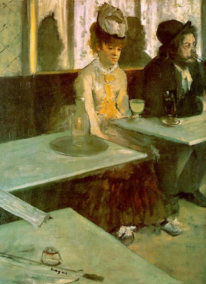 In a Cafe The Absinthe Drinker CGF