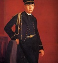 Degas Edgar Achille De Gas in the Uniform of a Cadet