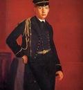 Degas Edgar Achille De Gas in the Uniform of a Cadet
